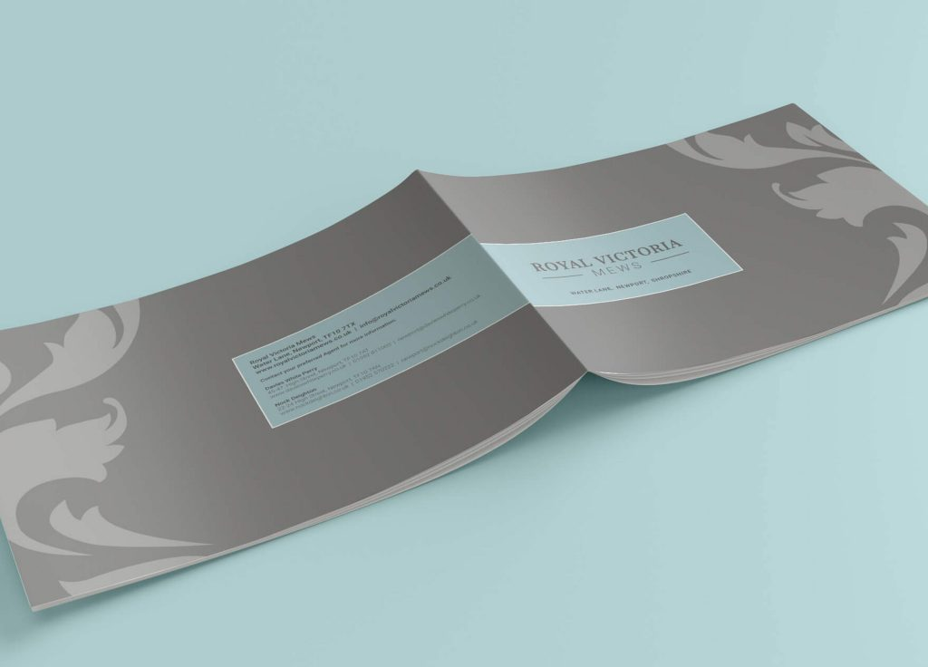 Brochure design for Royal Victoria mews