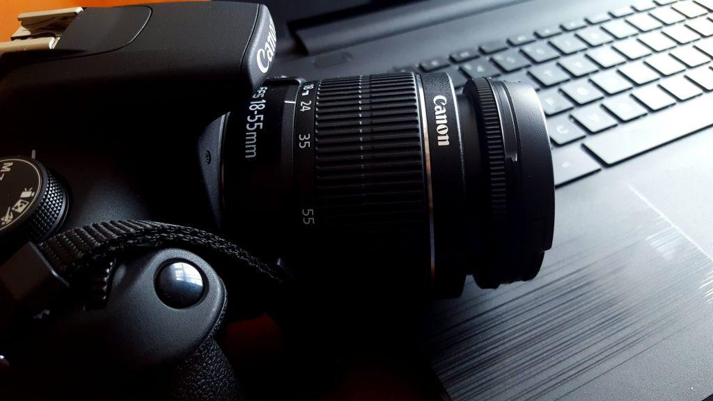 Camera on desk