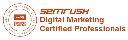SEMrush SEO certified proffesionals