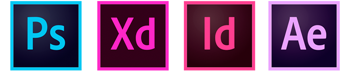 Adobe suite logos