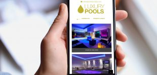 luxury pools mobile website design