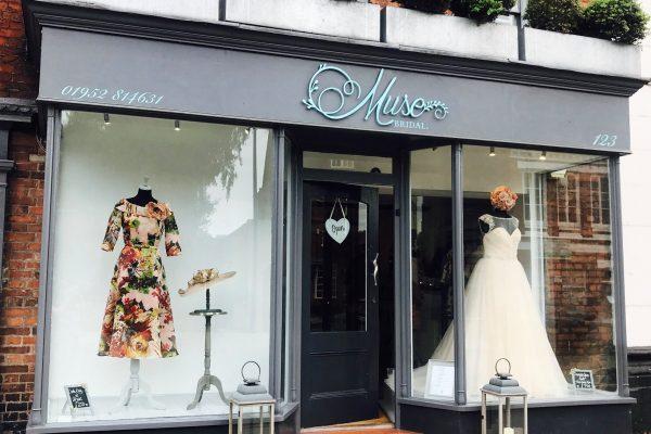 Muse Bridal Shop Signage Newport
